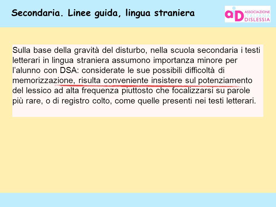 Secondaria. Linee guida, lingua straniera
