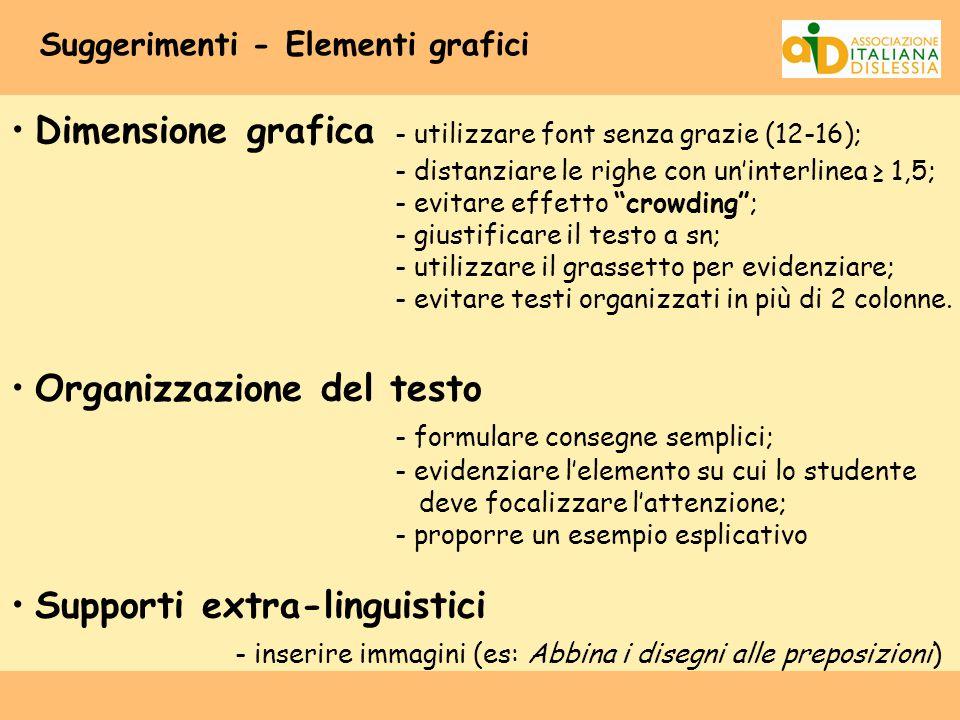 Suggerimenti - Elementi grafici