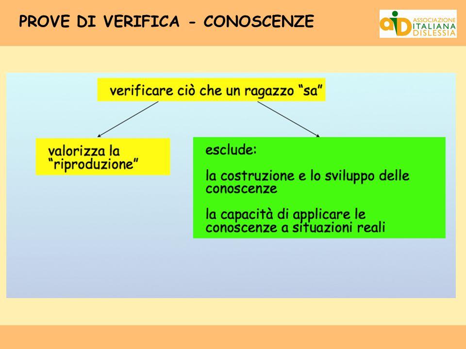 PROVE DI VERIFICA - CONOSCENZE