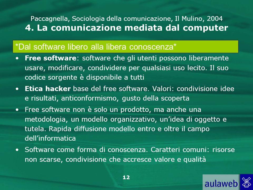 *Dal software libero alla libera conoscenza*