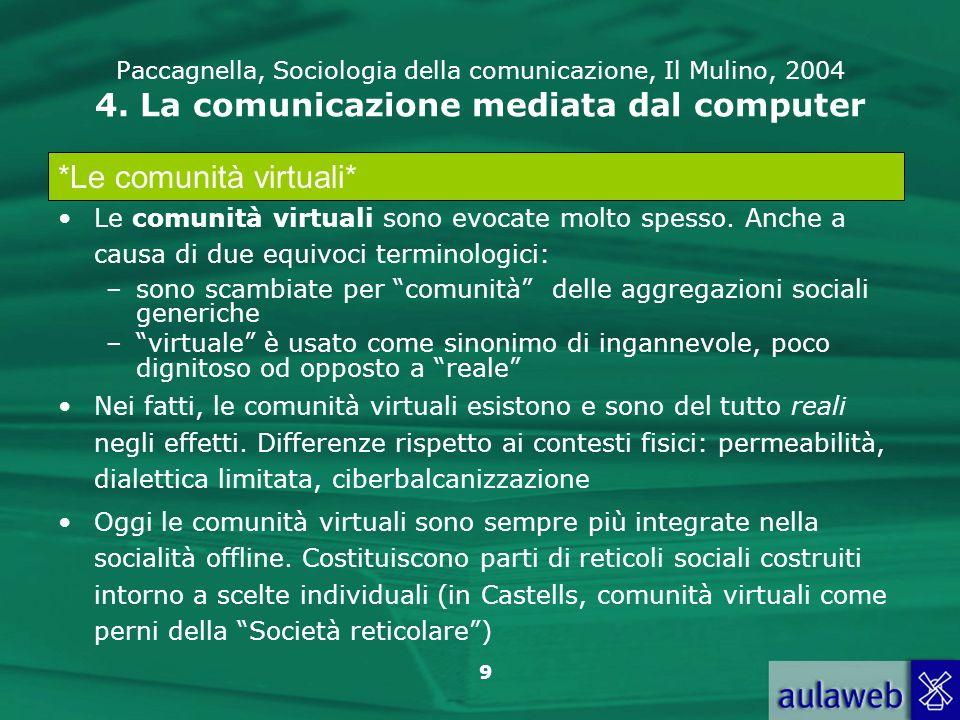*Le comunità virtuali*