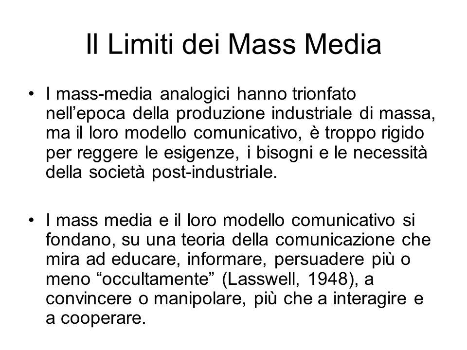 Il Limiti dei Mass Media