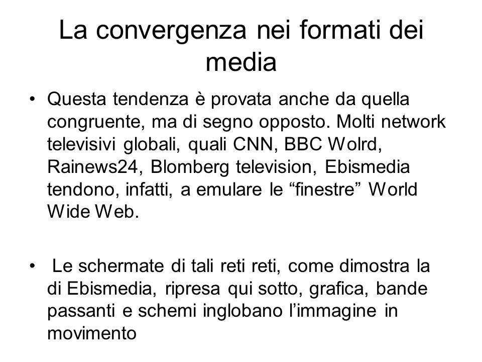 La convergenza nei formati dei media