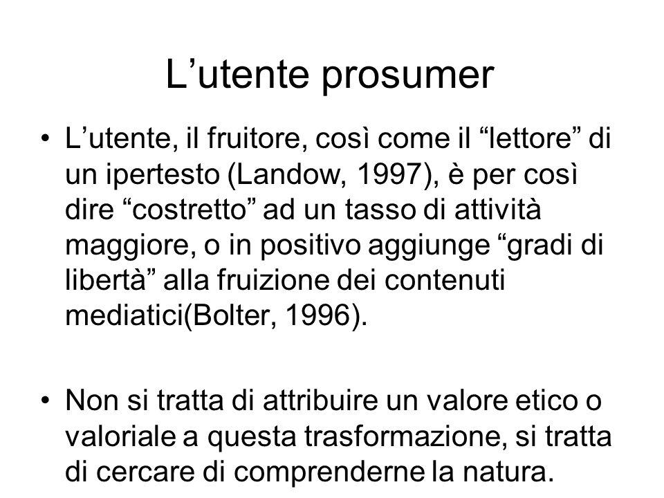 L'utente prosumer