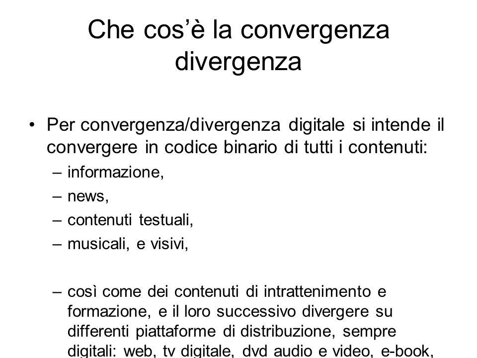Che cos'è la convergenza divergenza