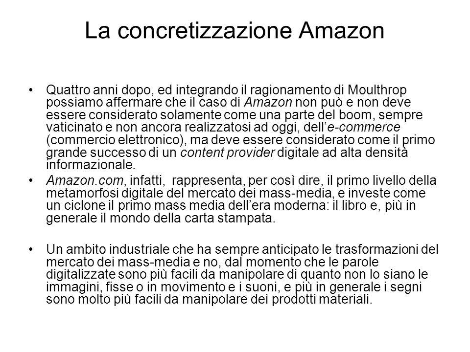 La concretizzazione Amazon