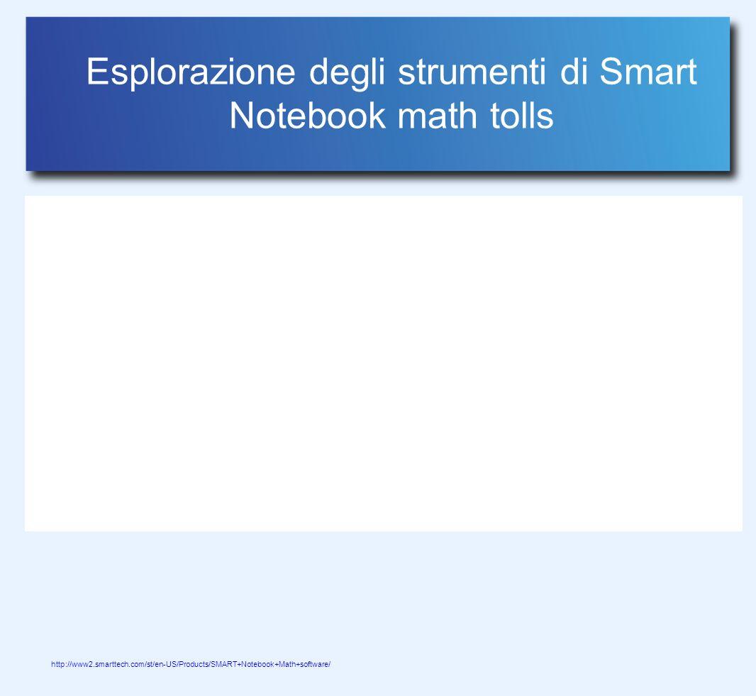 Esplorazione degli strumenti di Smart Notebook math tolls