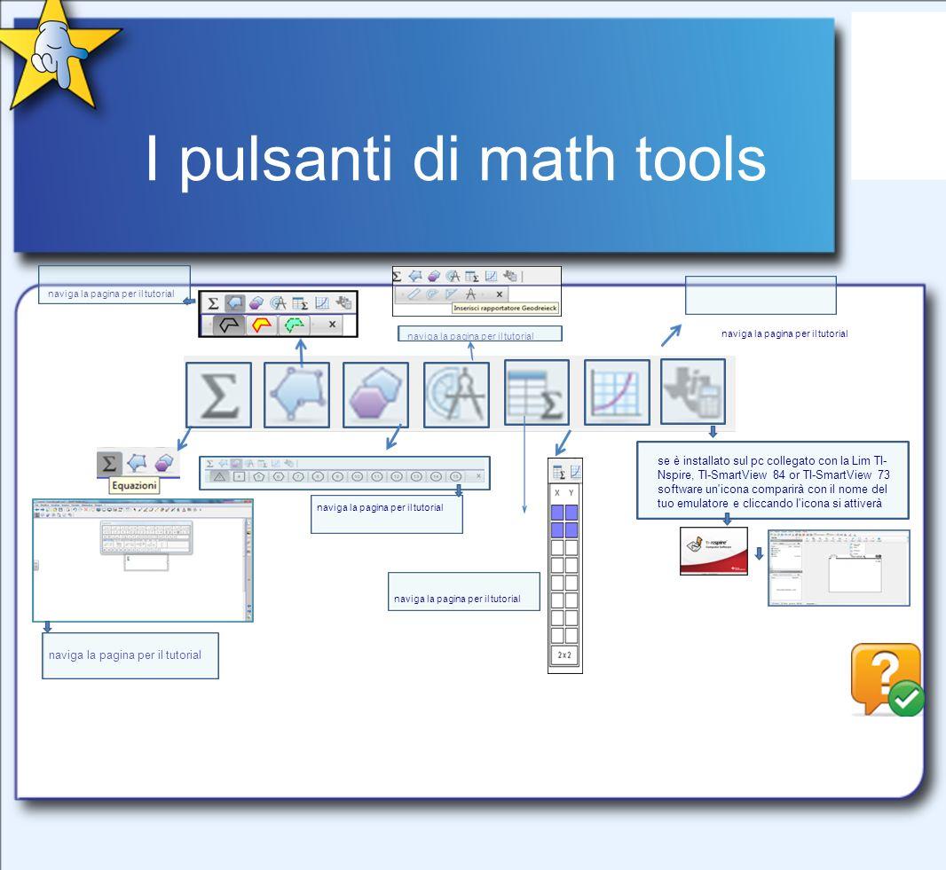 I pulsanti di math tools