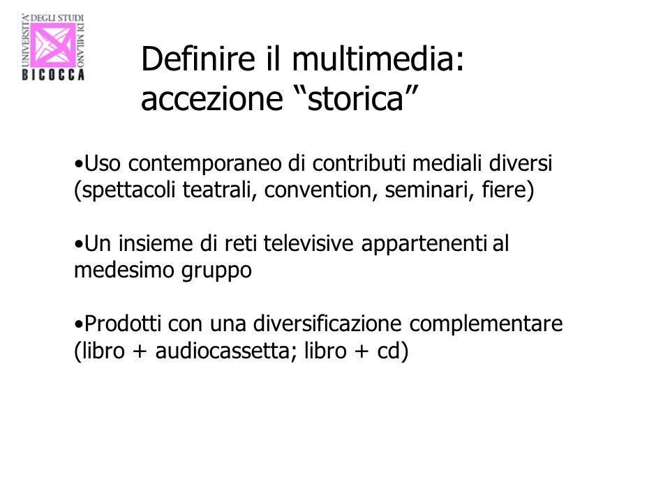 Definire il multimedia: accezione storica