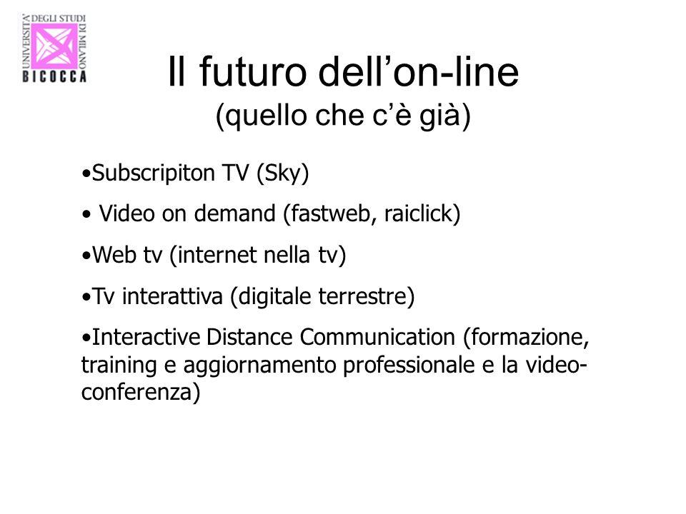 Il futuro dell'on-line (quello che c'è già)