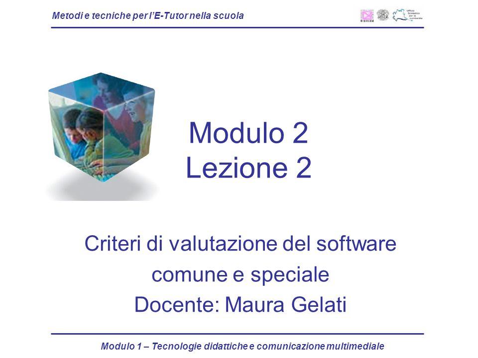 Criteri di valutazione del software