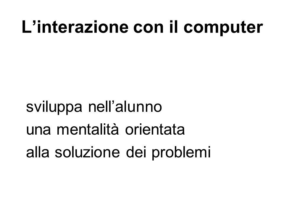 L'interazione con il computer