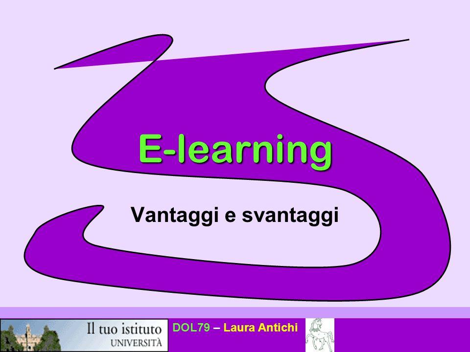 E-learning Vantaggi e svantaggi