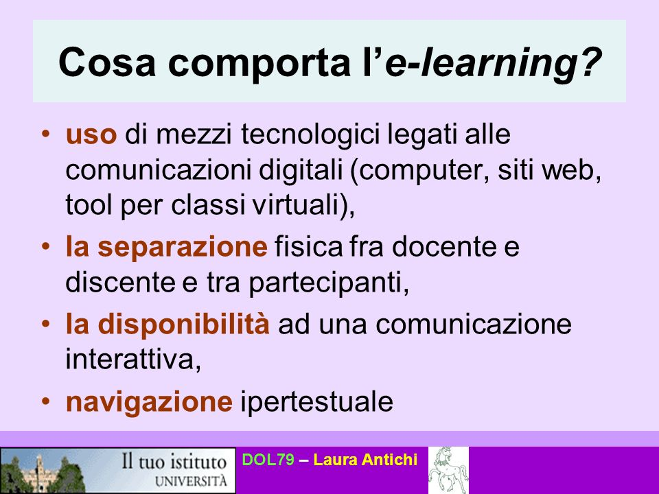 Cosa comporta l'e-learning