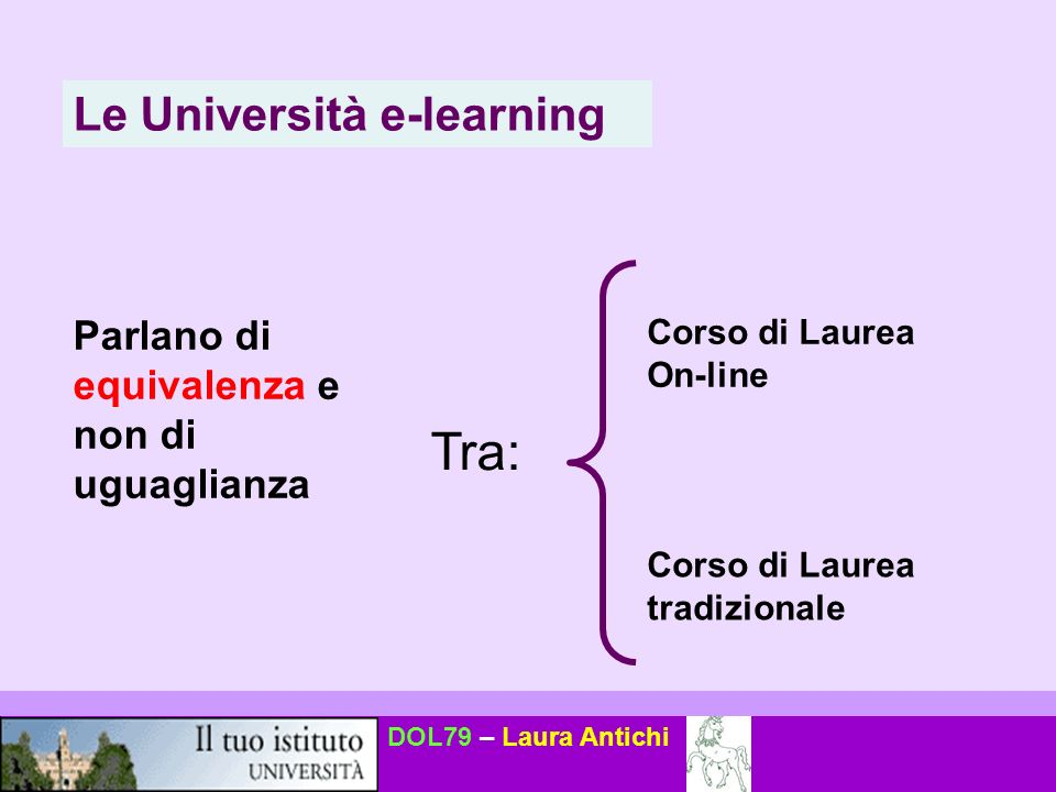 Tra: Le Università e-learning