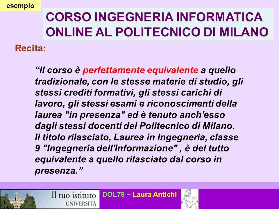 CORSO INGEGNERIA INFORMATICA ONLINE AL POLITECNICO DI MILANO