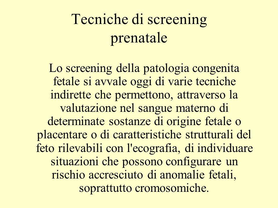 Tecniche di screening prenatale