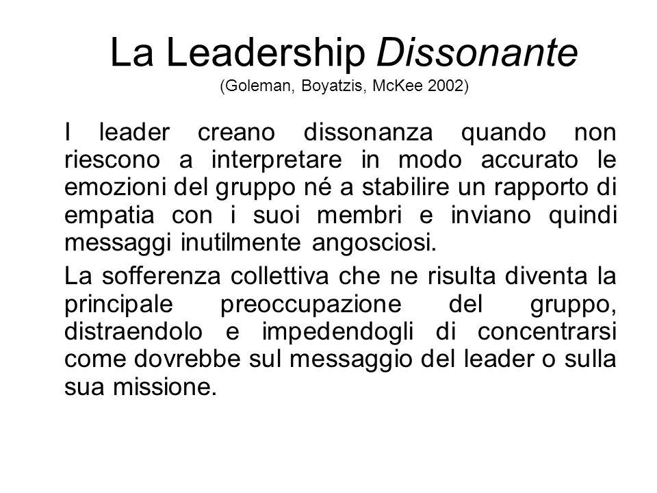 La Leadership Dissonante (Goleman, Boyatzis, McKee 2002)