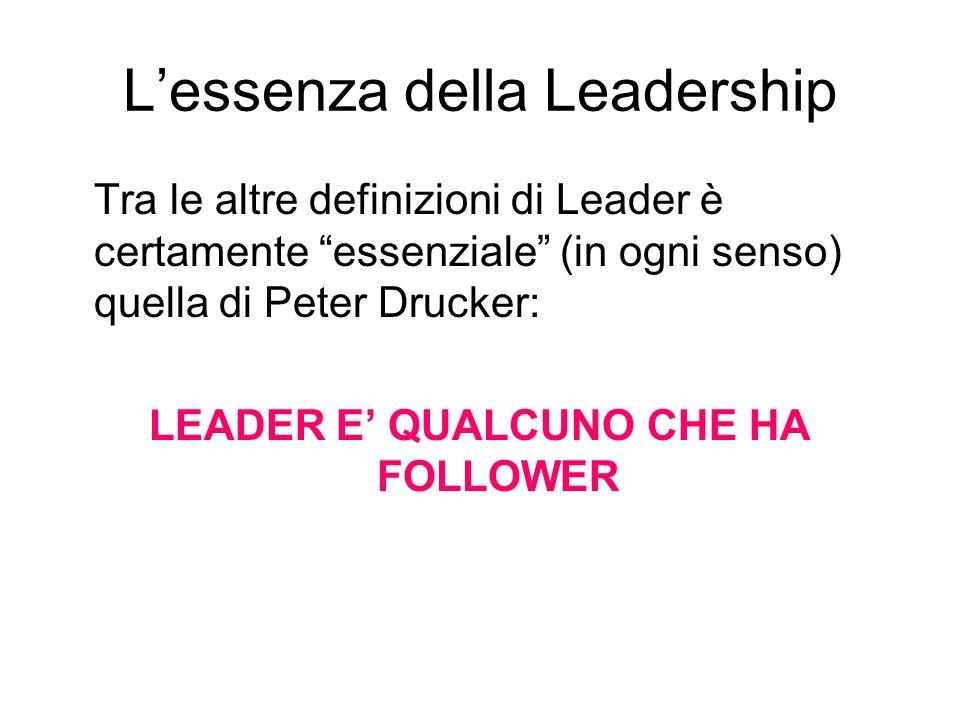 L'essenza della Leadership