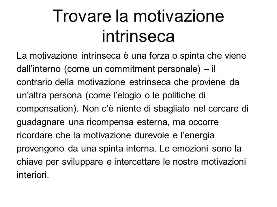Trovare la motivazione intrinseca