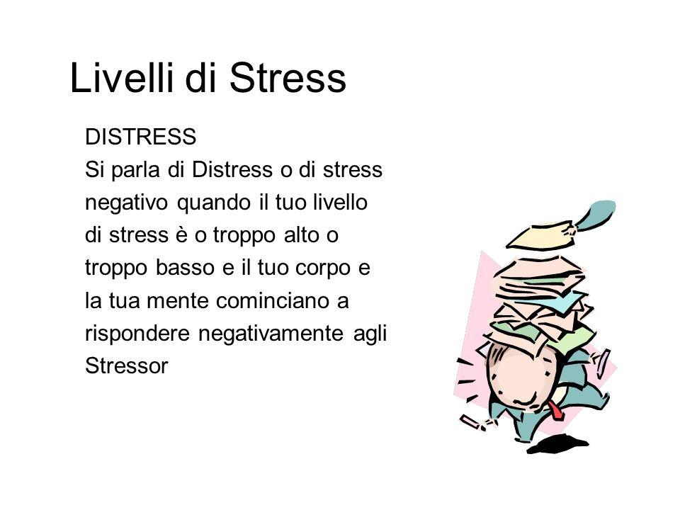Livelli di Stress DISTRESS Si parla di Distress o di stress