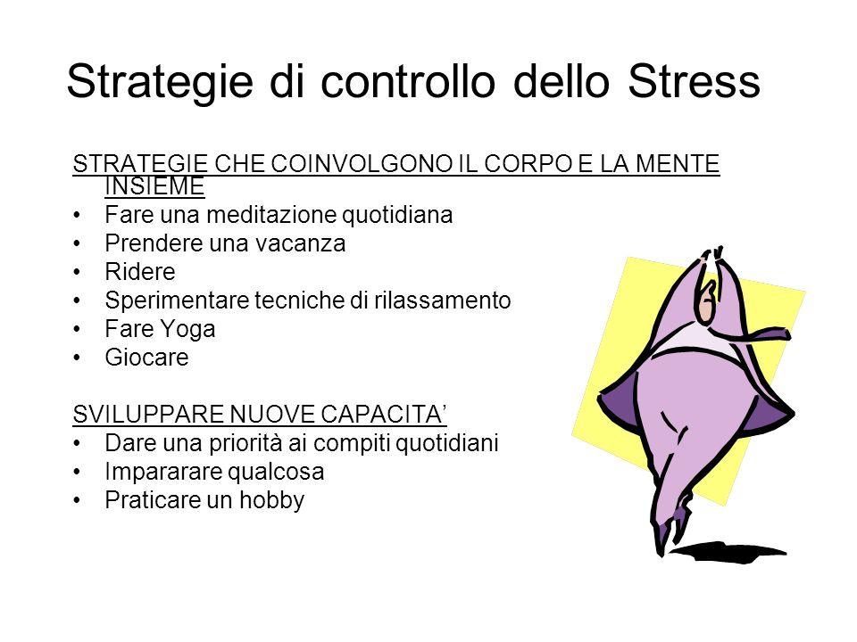 Strategie di controllo dello Stress