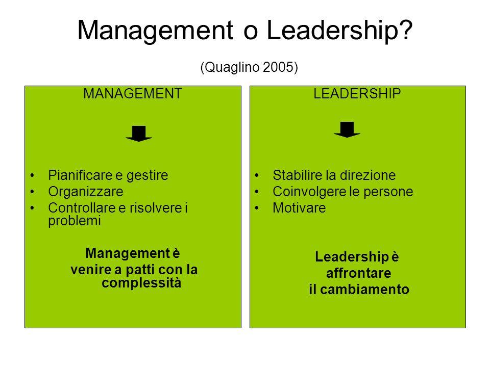 Management o Leadership (Quaglino 2005)