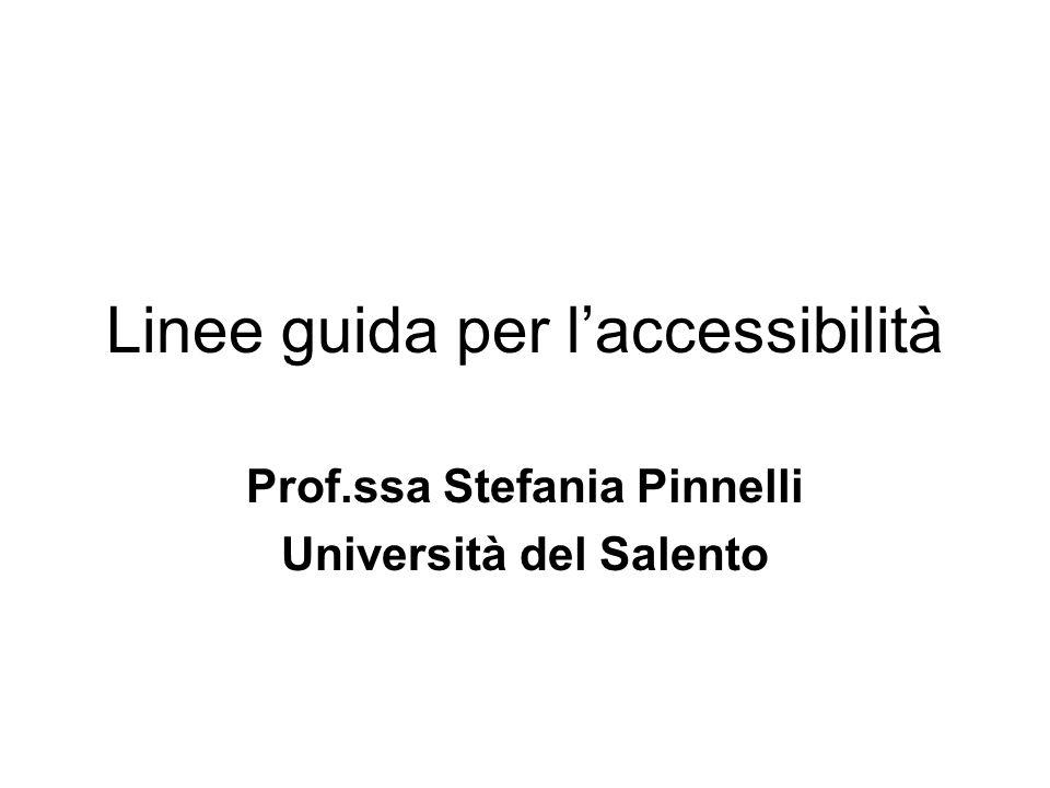 Linee guida per l'accessibilità