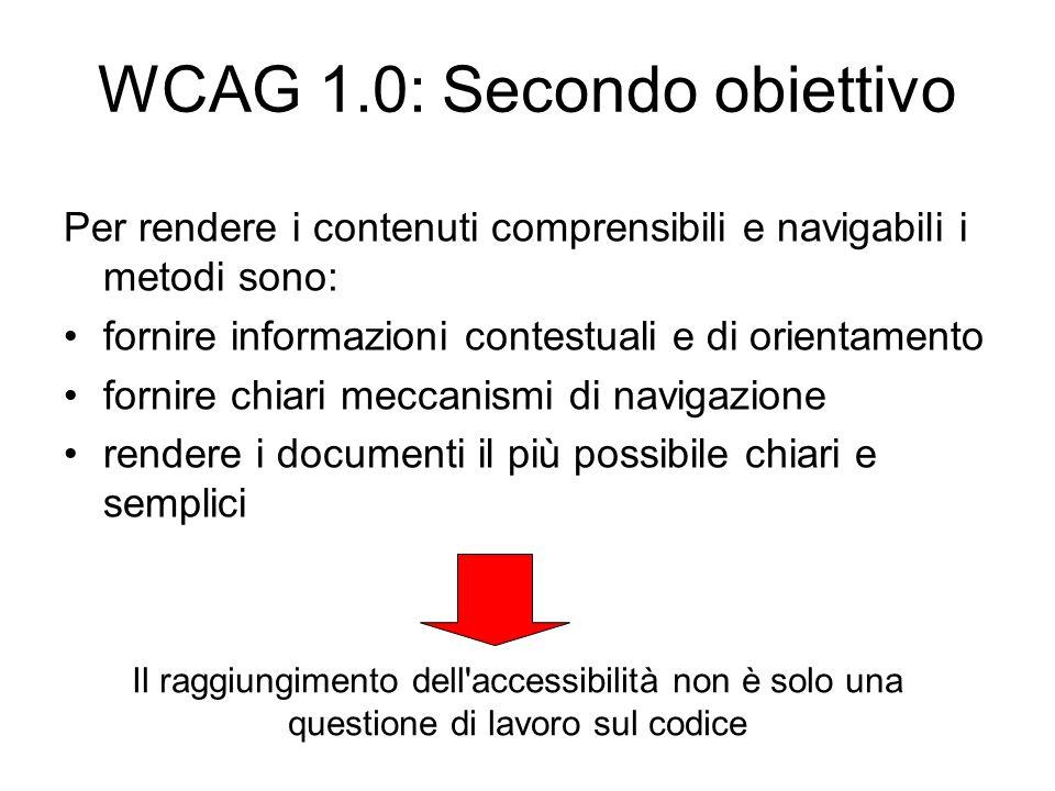WCAG 1.0: Secondo obiettivo
