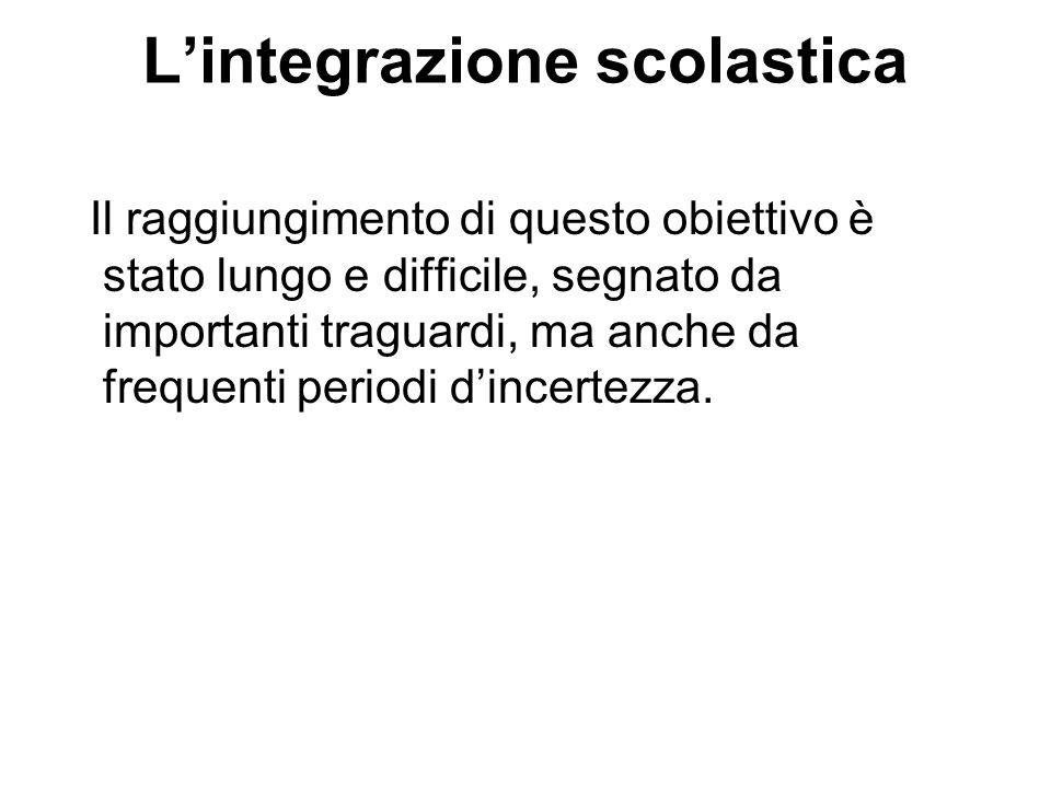 L'integrazione scolastica