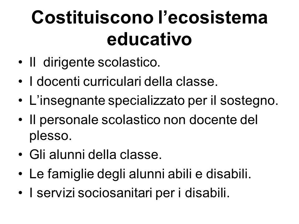Costituiscono l'ecosistema educativo