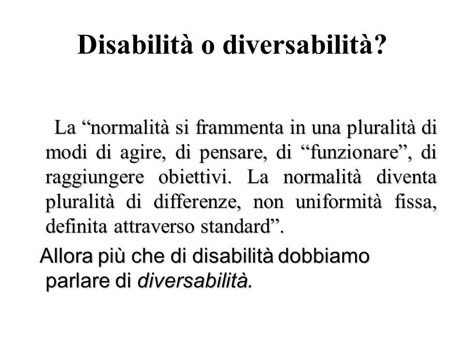 Disabilità o diversabilità