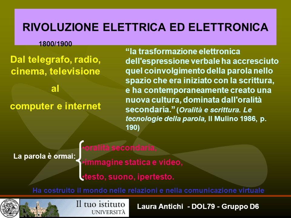 RIVOLUZIONE ELETTRICA ED ELETTRONICA