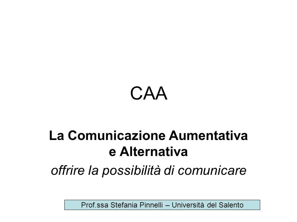 CAA La Comunicazione Aumentativa e Alternativa