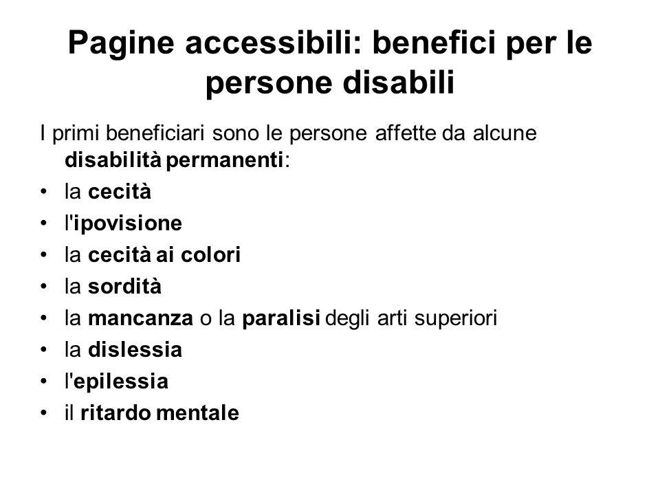 Pagine accessibili: benefici per le persone disabili