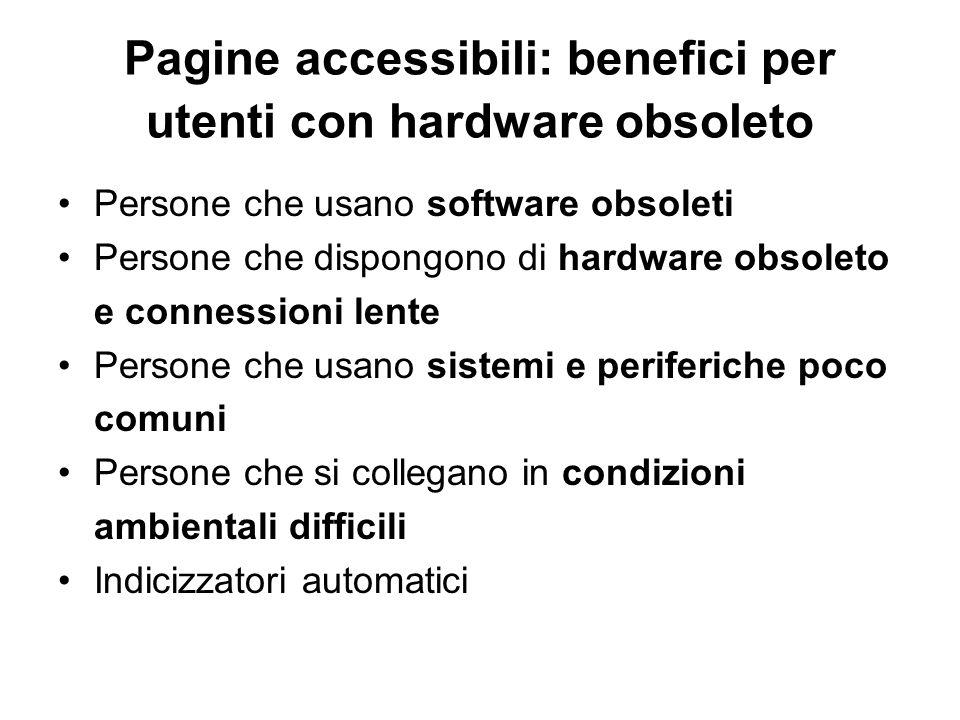 Pagine accessibili: benefici per utenti con hardware obsoleto