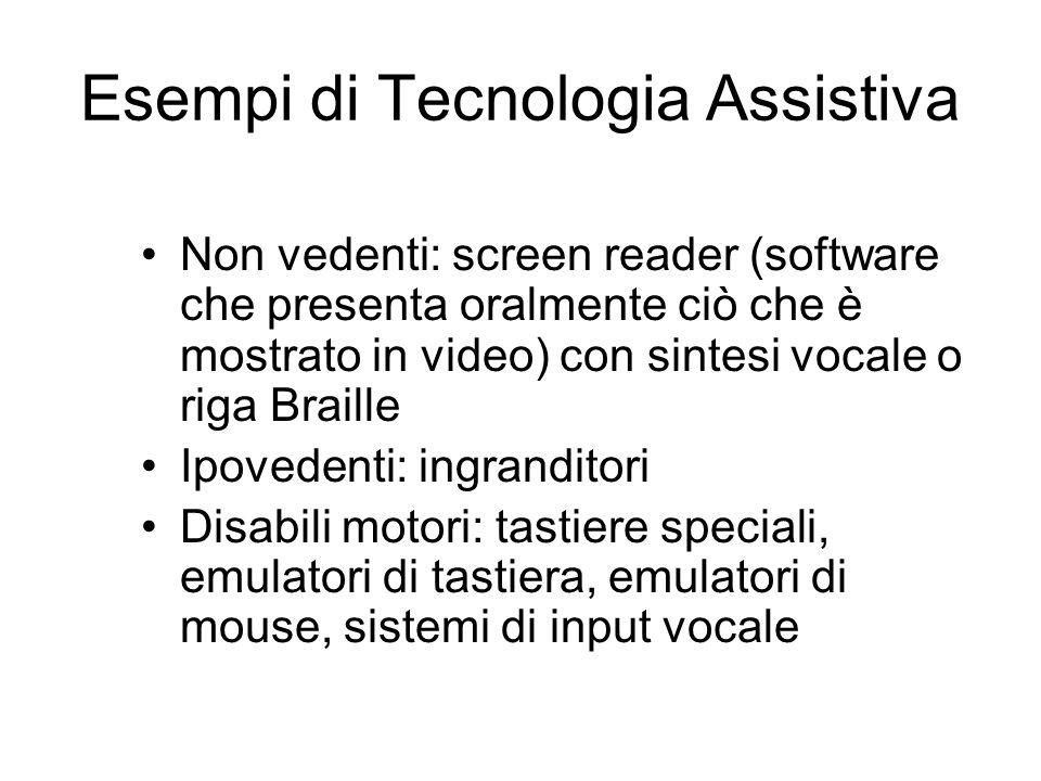 Esempi di Tecnologia Assistiva