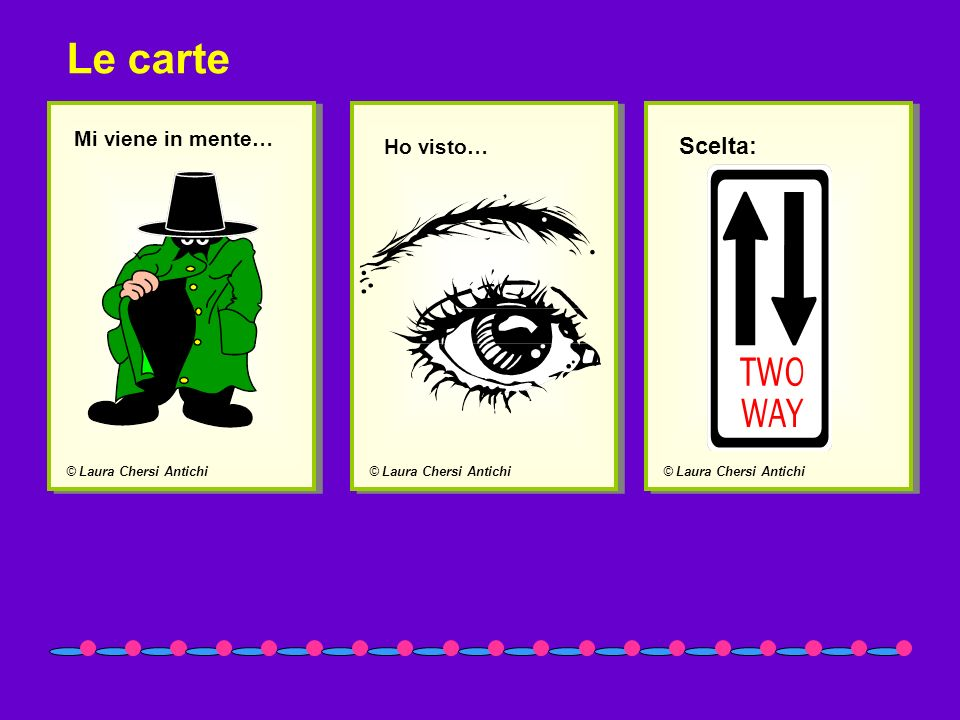 Le carte Scelta: Mi viene in mente… Ho visto… © Laura Chersi Antichi