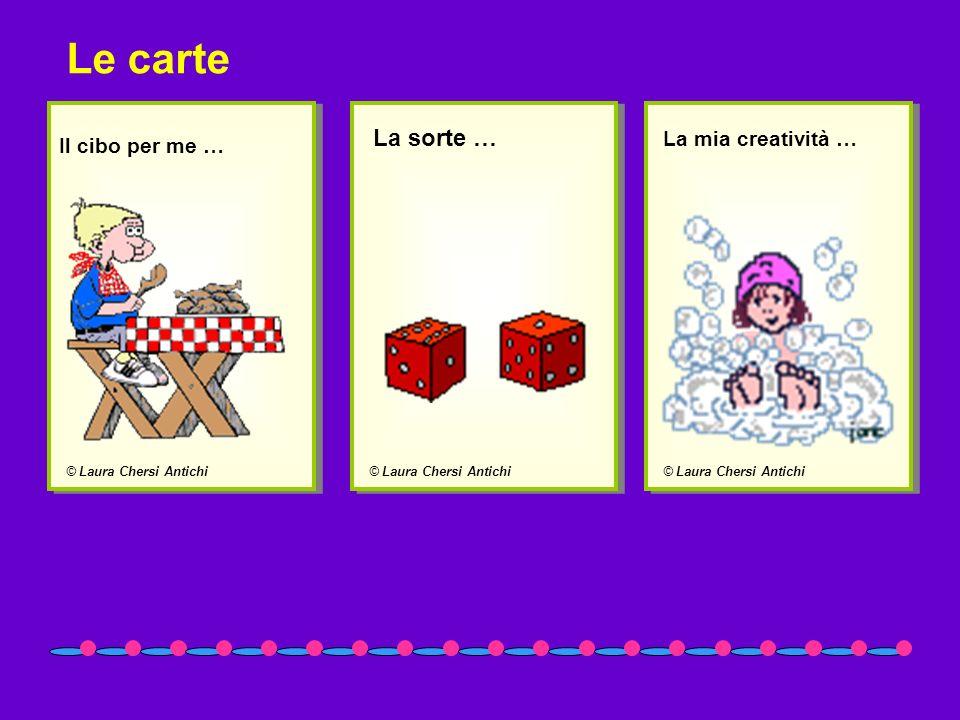 Le carte La sorte … La mia creatività … Il cibo per me …