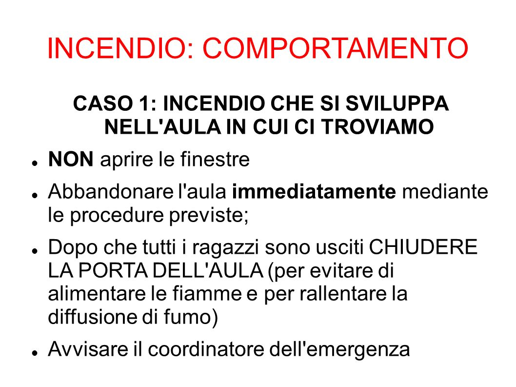 INCENDIO: COMPORTAMENTO
