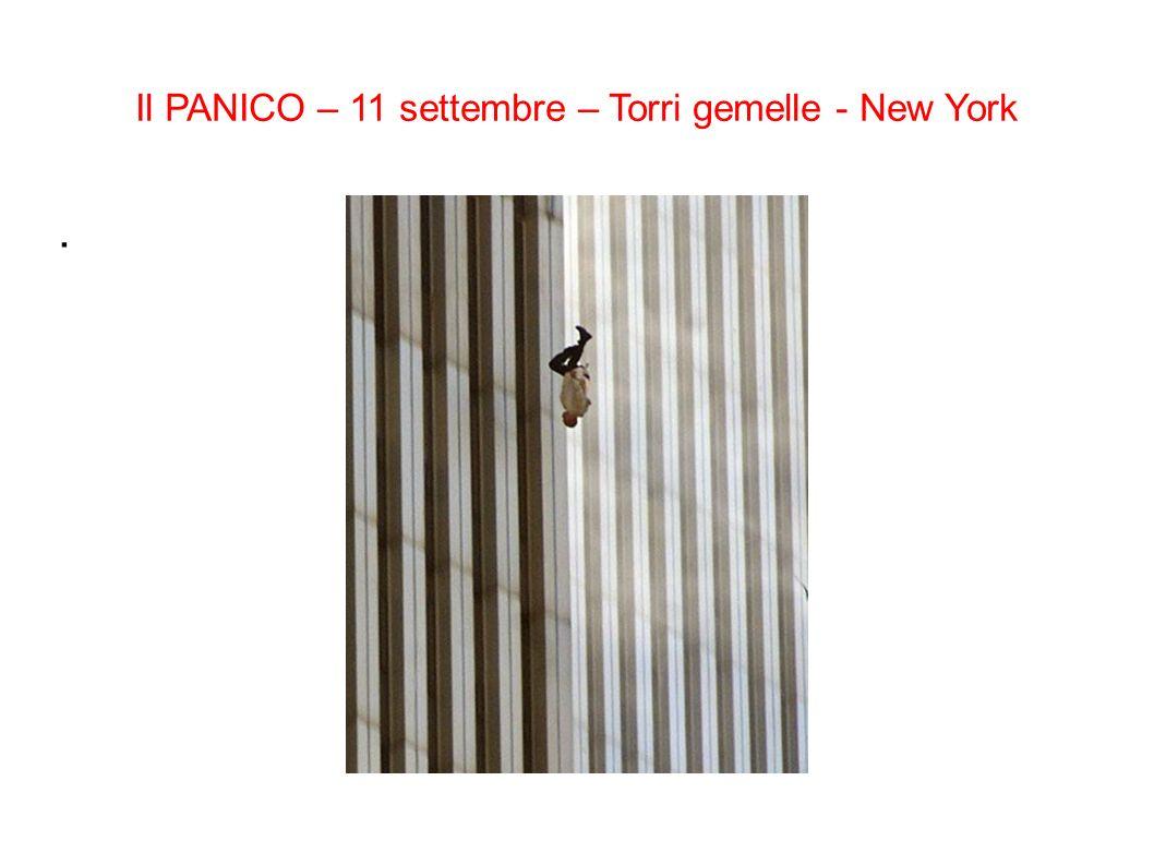 Il PANICO – 11 settembre – Torri gemelle - New York