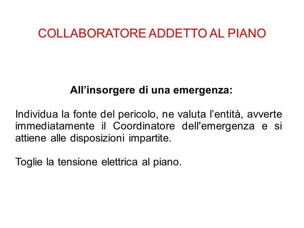 COLLABORATORE ADDETTO AL PIANO