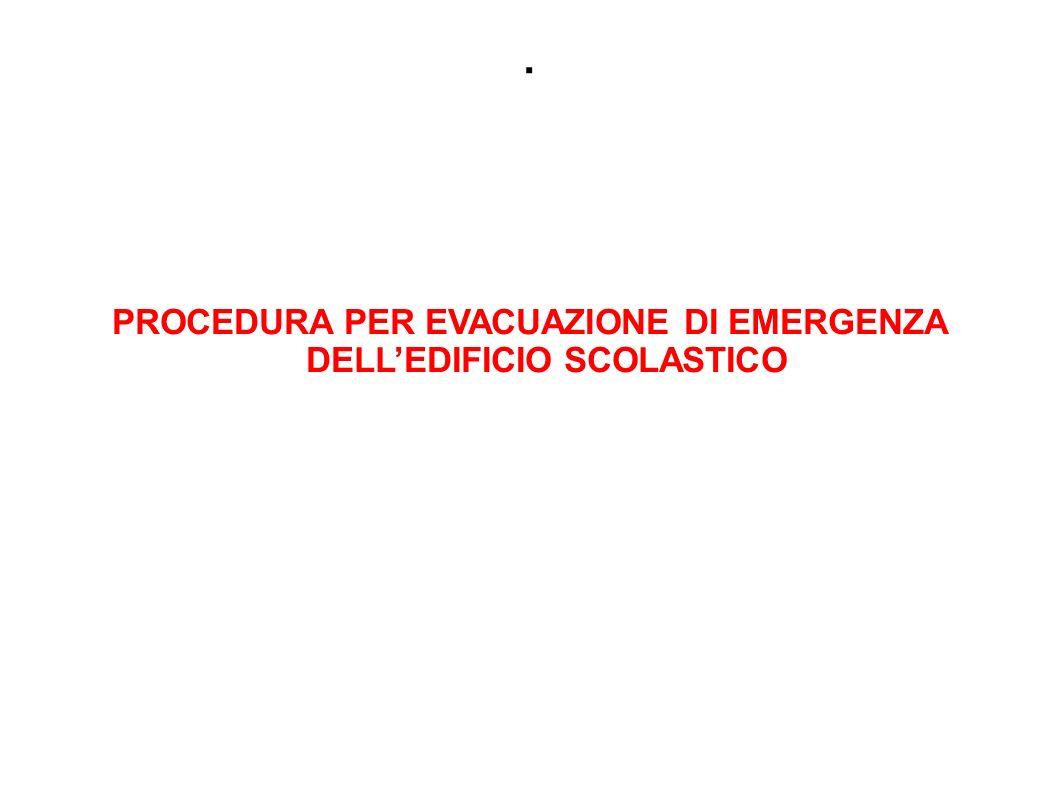 PROCEDURA PER EVACUAZIONE DI EMERGENZA DELL'EDIFICIO SCOLASTICO