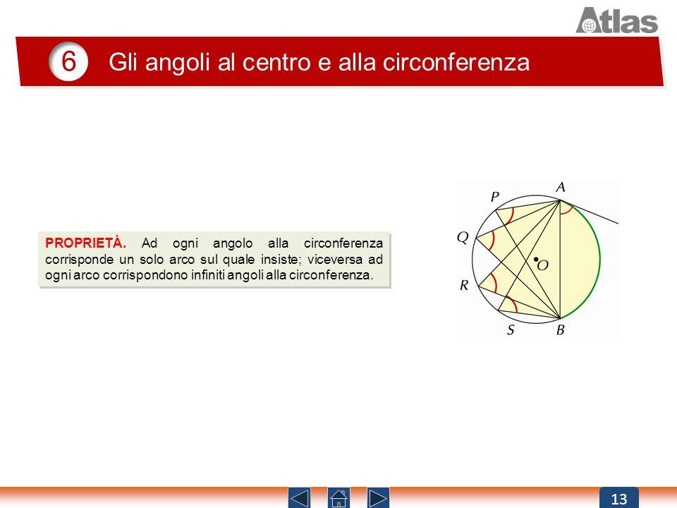 6 Gli angoli al centro e alla circonferenza 13