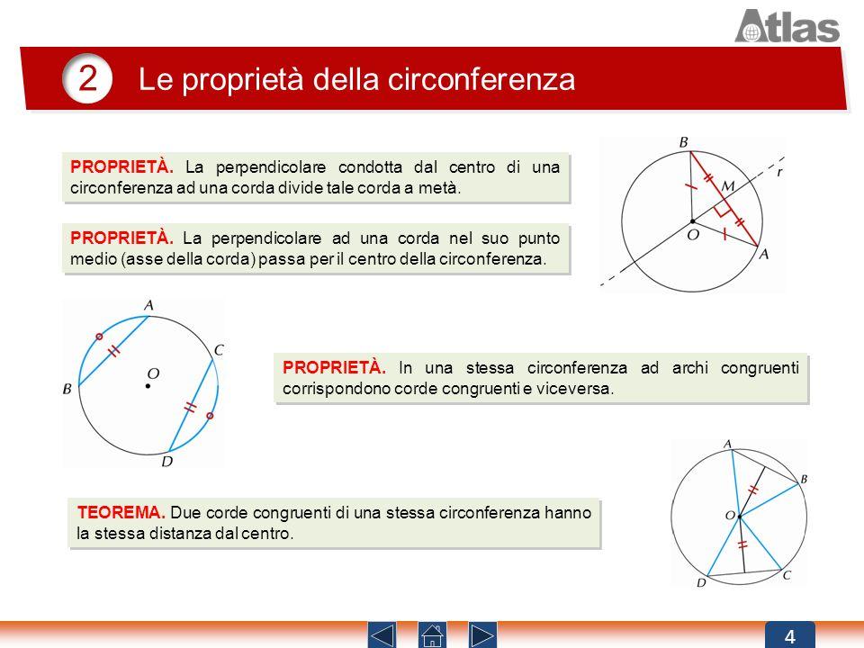 2 Le proprietà della circonferenza 4