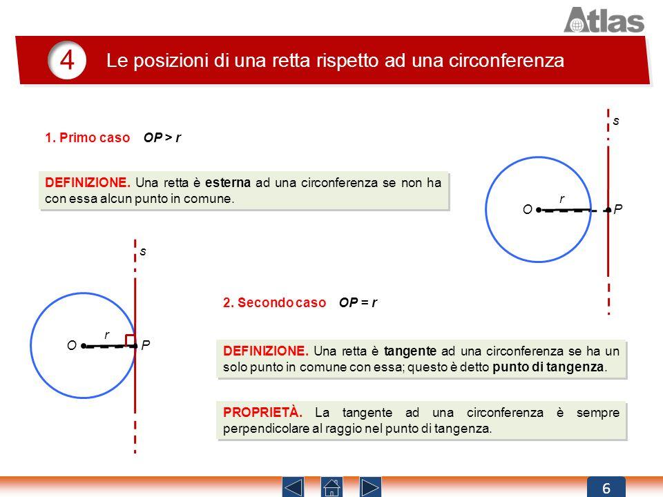 4 Le posizioni di una retta rispetto ad una circonferenza 6 s