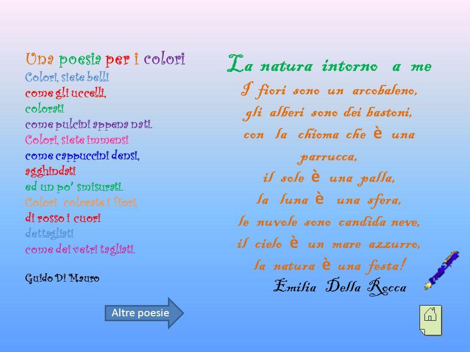 La natura intorno a me Una poesia per i colori