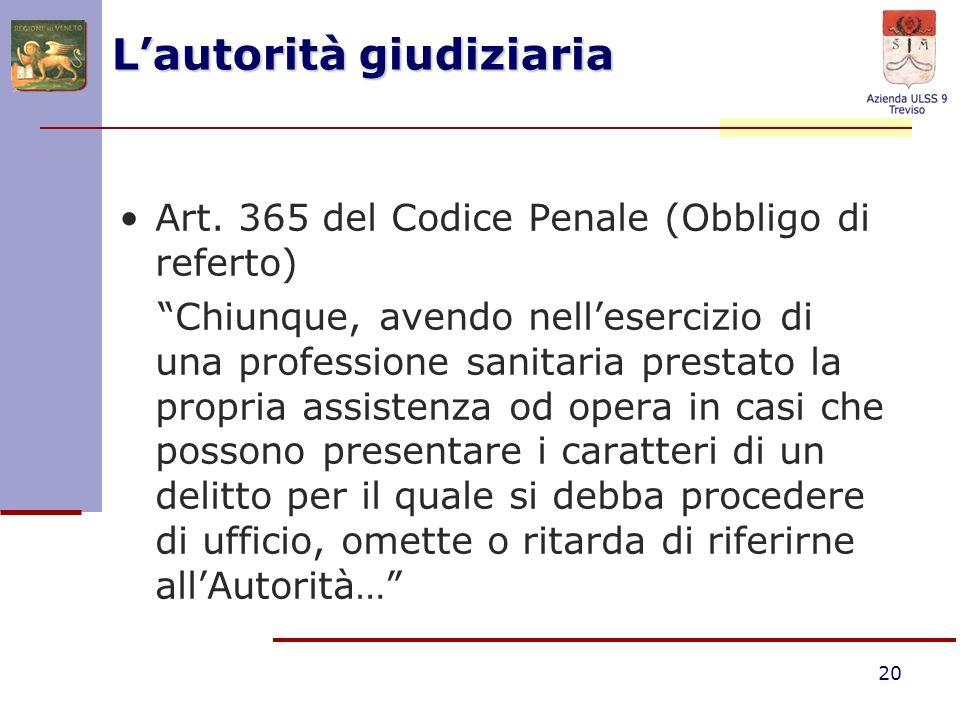 L'autorità giudiziaria