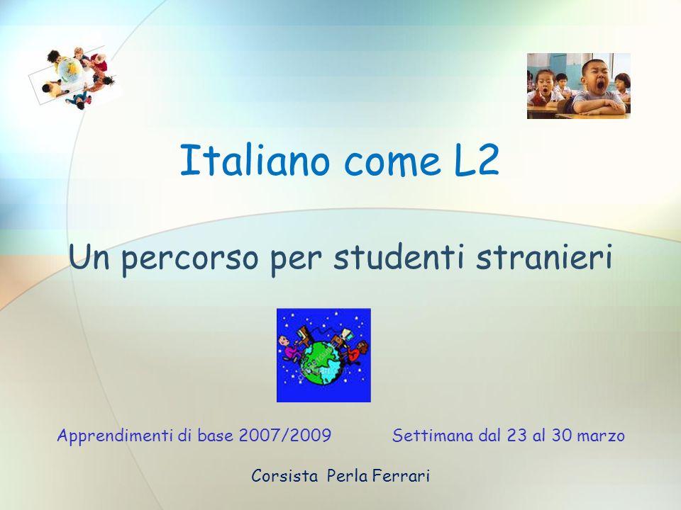 Un percorso per studenti stranieri