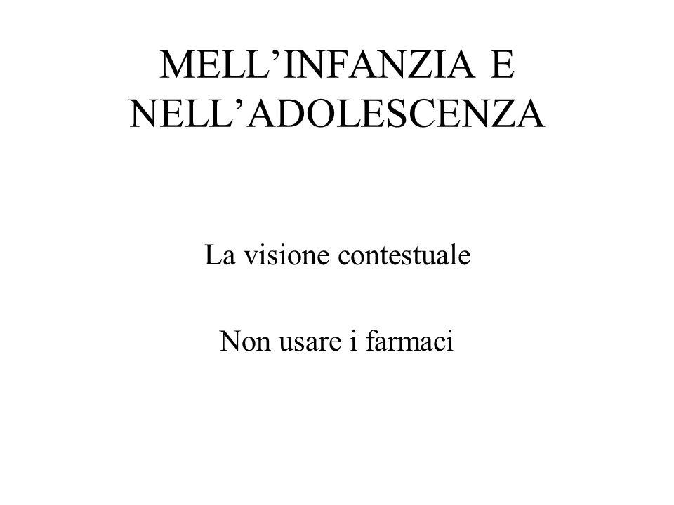 MELL'INFANZIA E NELL'ADOLESCENZA
